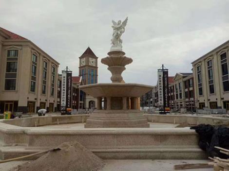 喷泉安装现场