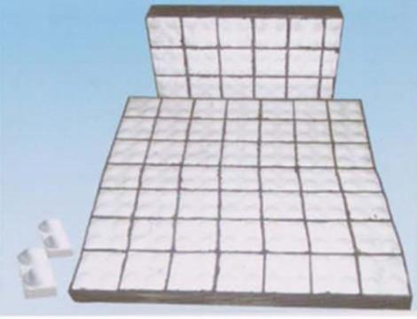 抗冲击耐磨陶瓷橡胶复合衬板维修