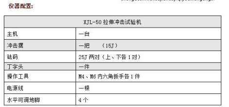 XJL-50拉伸沖擊試驗機價格