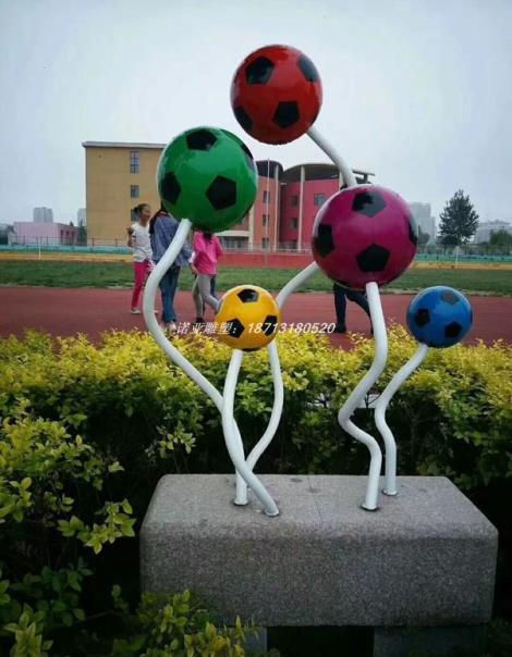 小學操場不銹鋼雕塑-氣球雕塑  上升不銹鋼雕塑