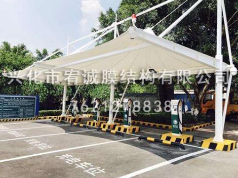电动汽车充电棚施工