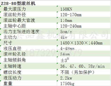 ZP-80滚丝机采购