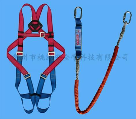 单挂点全身式双大钩安全带