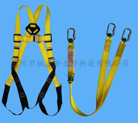单挂点全身式双环形钩安全带