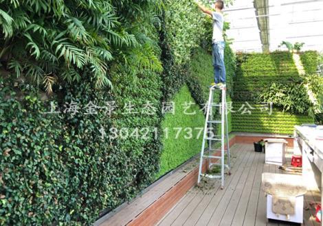 植物造型景墙