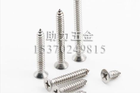 316不锈钢十字槽沉头自攻螺钉