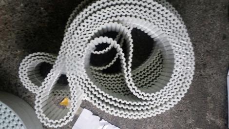 聚氨酯鋼絲同步帶 開口/齒面帶布/加膠/加PU T10 XL L AT10 5M 8M