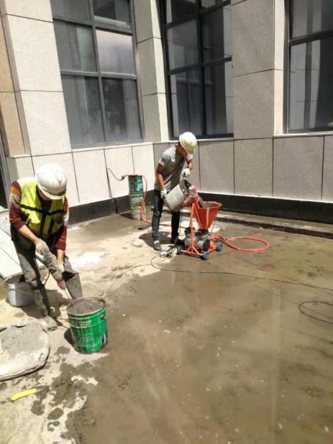 灌注水泥浆施工