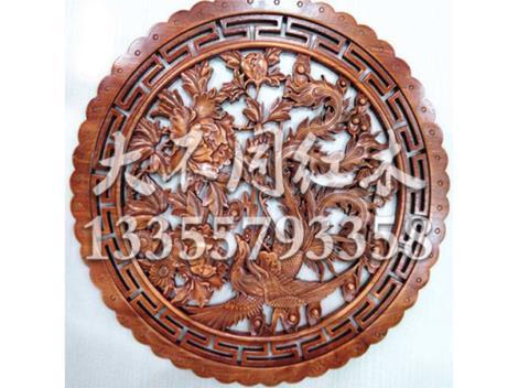 木雕圆形挂件