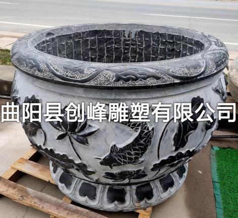 雕花石缸定制