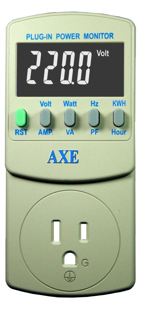 插座式8合1交流精密电源检测器AXE-0