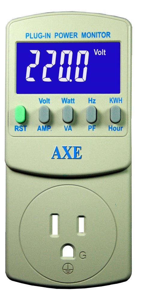 插座式8合1交流精密电源检测器AXE-1