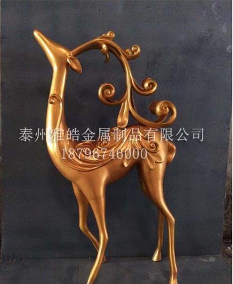 定制不锈钢动物雕塑摆件
