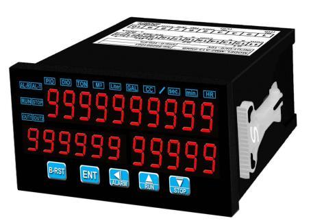 類比與脈波輸入流量瞬間量累積量批量顯示控制電表(48x96mm)MRT-B