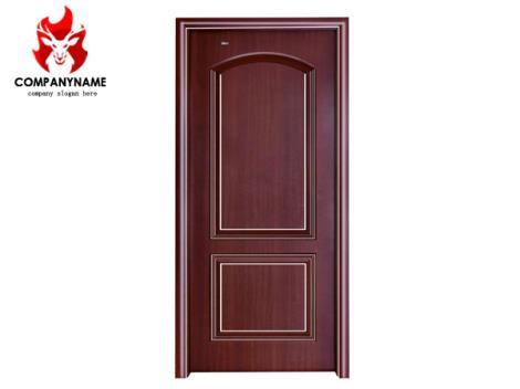 极简风实木拼框门