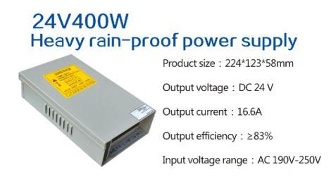 24V400WLED防雨电源