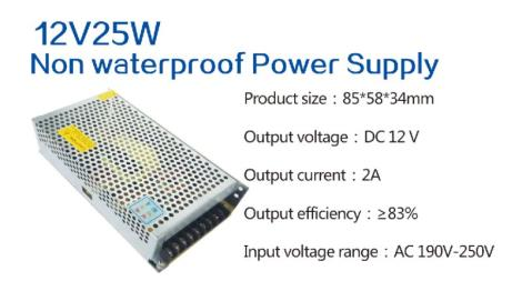 12V25W Non waterproof Power Supply