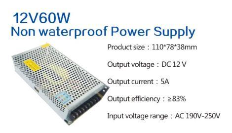 12V60W Non waterproof Power Supply