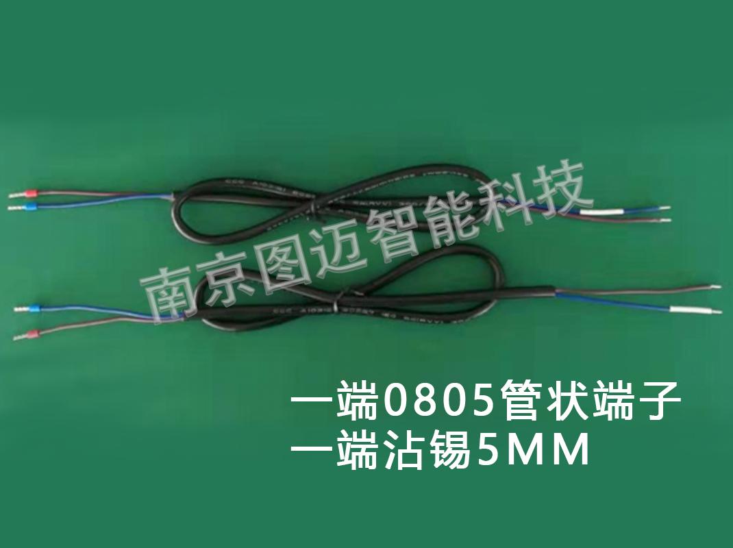 一端0805管狀端子,一端沾錫5mm