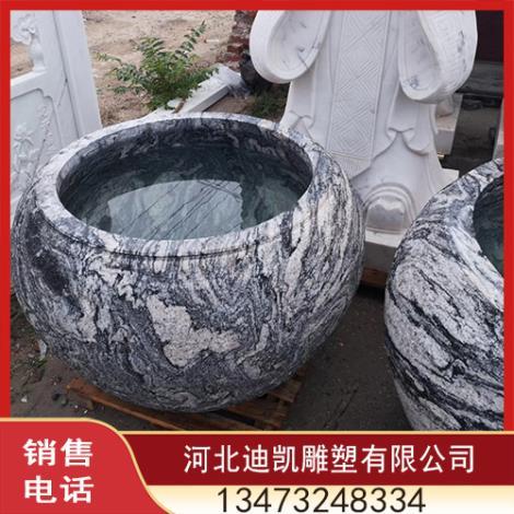 石雕花盆鱼缸定制