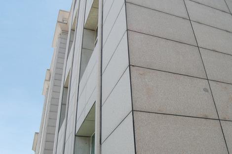 通长槽式大理石材幕墙