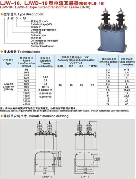 LJWD-10 型電流互感器
