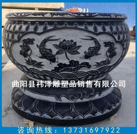 雕塑荷花鱼缸