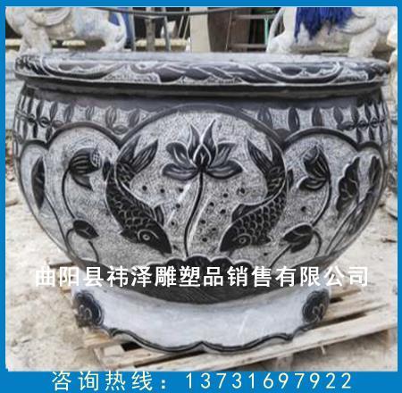 仿古石雕鱼缸加工