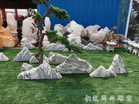 雪浪石组合大型景观石定制