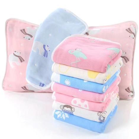 三層紗布枕巾