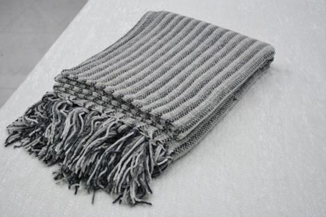 舒适仿羊绒披毯