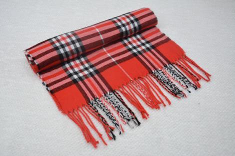 条纹羊绒围巾