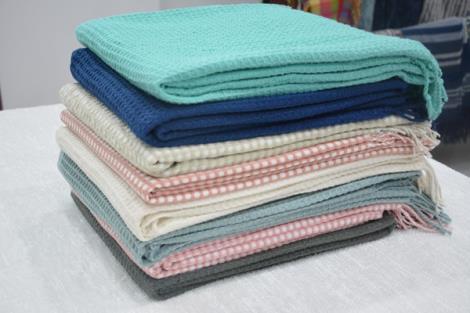 小方格披毯围巾