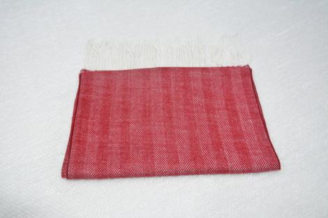 小竖纹羊绒围巾