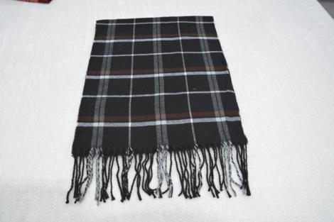 格子仿羊绒围巾2