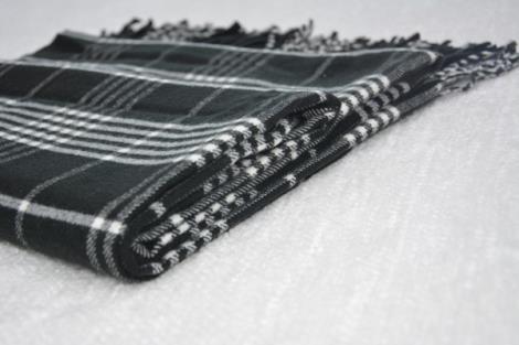格子仿羊绒围巾8