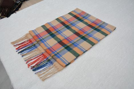 格子仿羊绒围巾13