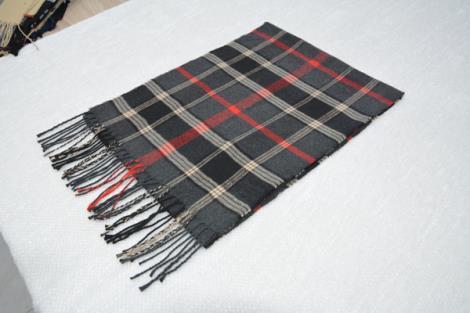 格子仿羊绒围巾15