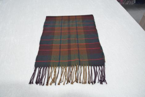 格子仿羊绒围巾17