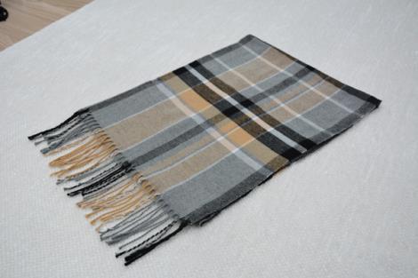 格子仿羊绒围巾19