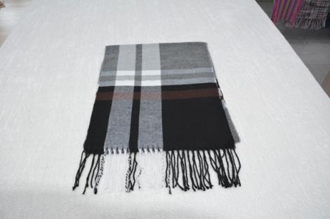 格子仿羊绒围巾20