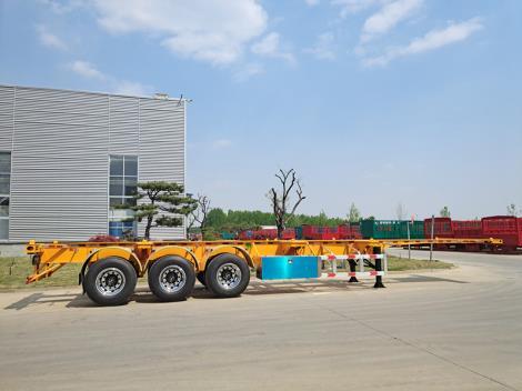 供應山東鑼響掛車 40英尺骨架車參數 輕型半掛車生產廠家