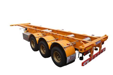 鑼響30英尺骨架車參數 輕型半掛車生產廠家 運輸車