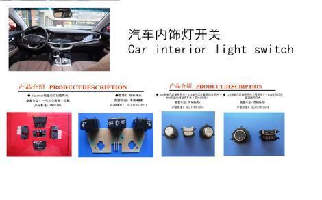 Car interior light switch