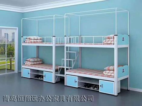 带柜带楼梯连体上下公寓床