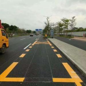 停車場道路劃線施工