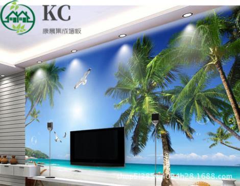 竹木打印背景墙