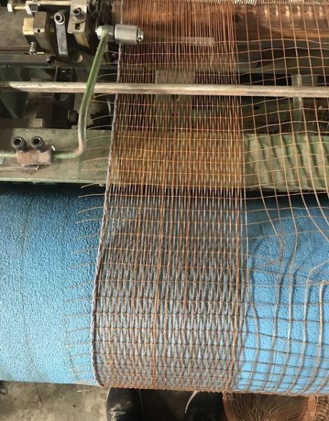 传输带用棕丝带芯网织机