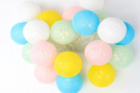 装饰棉线球