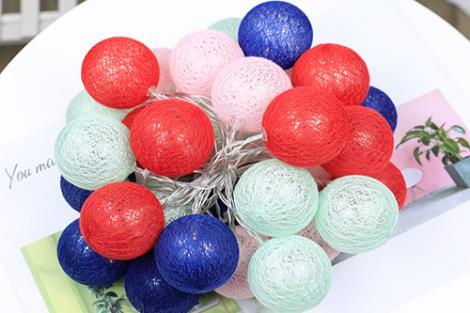 棉线球彩灯供货商
